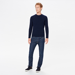 UNISEX TURTLENECK WITH ANCHOR, BLUE NAVY, SIZE S