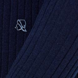 UNISEX FLAT RIBBED CREW NECK, BLUE NAVY, SIZE S