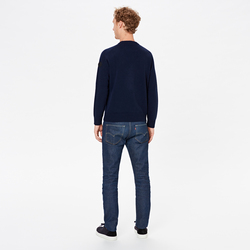 UNISEX CREW NECK WITH ANCHOR, BLUE NAVY, SIZE S