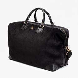 CORDUROY WEEKEND BAG, BLACK