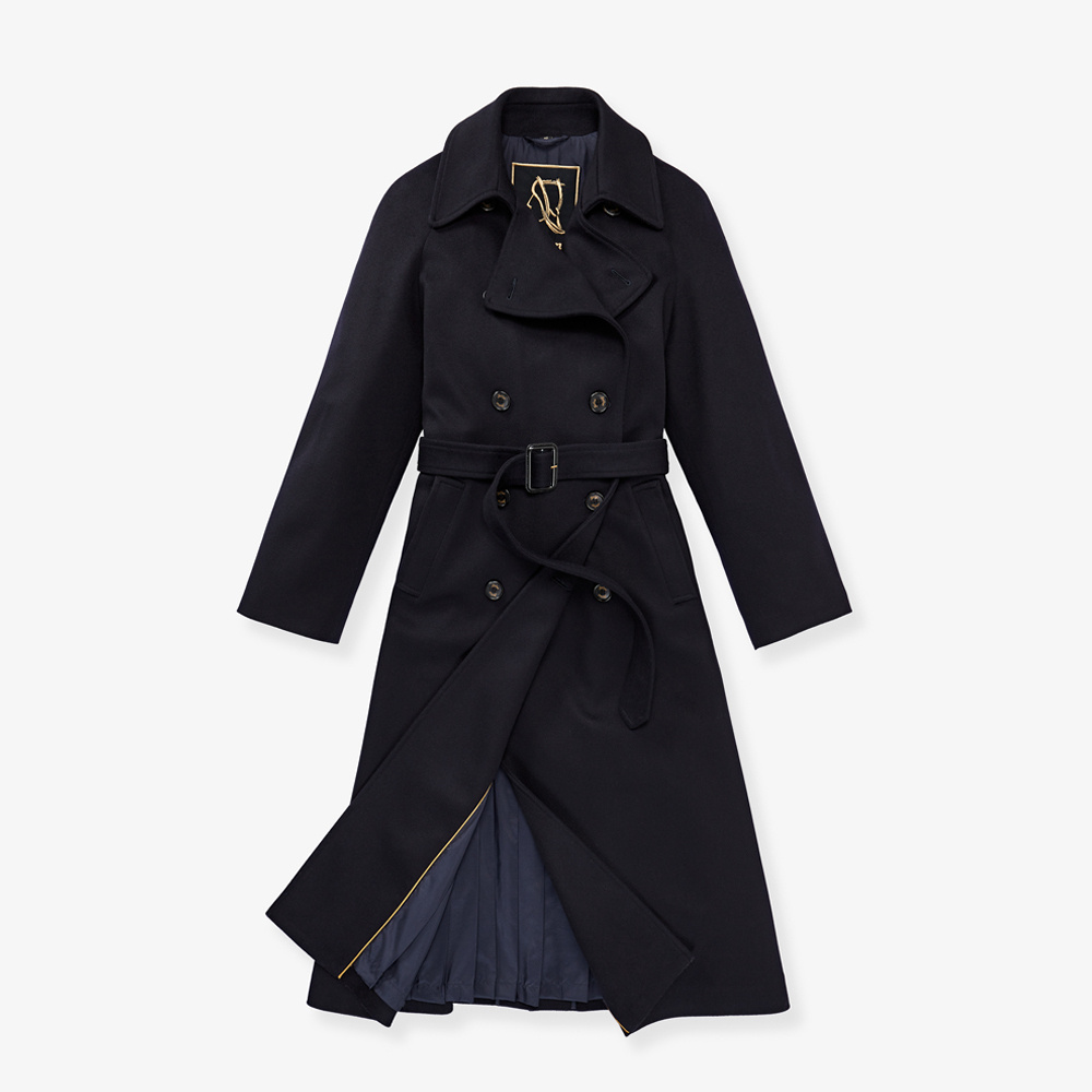 Sealup-VIRGIN WOOL AFRODITE COAT WITH PLEATED LINING